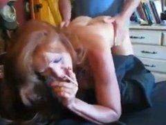 Mature redhead smoking bj and fuck