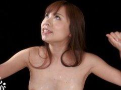 Sperm Mania - Miharu Kai's Cum Covered Group Handjob