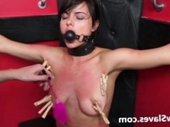 Teen slave Demis lesbian bdsm and tied latina submissive tit tormented