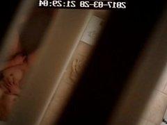 Girlfriend caught masturbating hidden cam