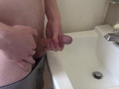 Peeing And Shooting My Warm Cum In The Sink For Kaitlyn -- JohnnyIzFine