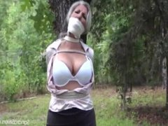 BBW Wrap gagged and drenched