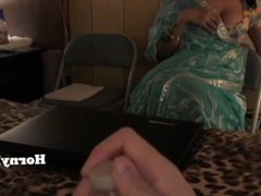 Busty Indian MILF wants to suck his son in law's lund (in Hindi)