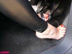 Driving Car in Heels