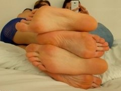 Hania and Eliza big feet show