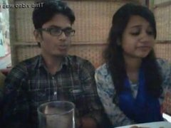 Indian girl and boy doing sex in restaurant