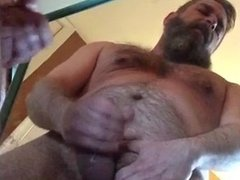big daddy jerks one out before wife gets back