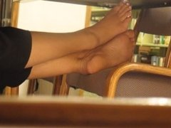 Candid Library Feet pt 1