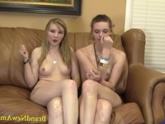 2 Girls are Better than 1 Teen Casting suck and fuck session
