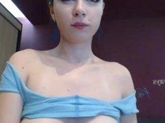 Smoking Babe on webcam