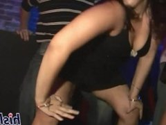 Raunchy babes get naughty at the club