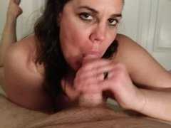 Cheating wife edges a cock and sucks the cum out...