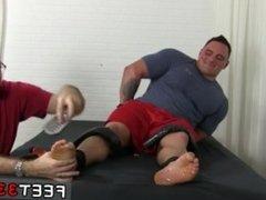 Hairy leg jock gay xxx Tough Wrestler Karl Tickled