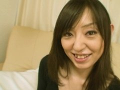 Small town Japanese MILF strips down for sex and creampie