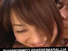 Steamy French kissing and tit licking with the hot young Aimi Nakatani