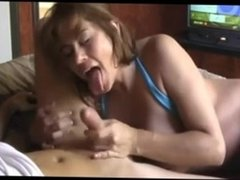Milf blow and titfuck
