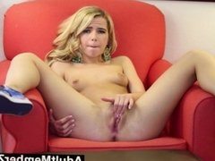 AdultMemberZone - Alina gives herself a finger licking orgasm