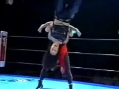 Neck Breaking Piledriver and Powerbomb on Women Intergender Wrestling-Part1