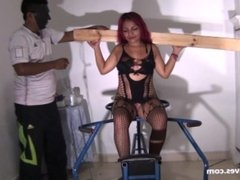 Latina slave Reina lesbian bdsm and teen submissives femdom whipping and se