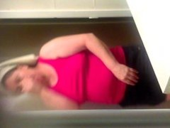 Hidden camera on my mom in the bathroom(please comment)