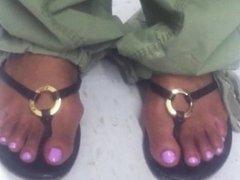 Megan good  look a like Light skin enony blue toes
