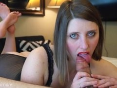 She Rides His Cock While Sucking His Toes