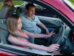 ExxxtraSmall - Skinny Teen Sucks Cock Gets Ass Fucked To Pass Driving Test