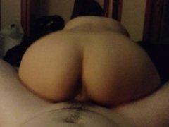 Hot girlfriend riding my dick