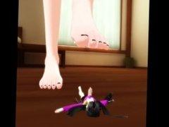 Giantess MMD - Lillian crush her sister, Eva