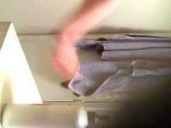 Spying on my mom in the bathroom#2(please comment)