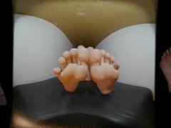 360 VR Barefoot POV - My Foot Soles and Toes in a short hot smell Video