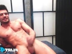 Straight Euro Muscle Stud Slides a Dildo in His Tight Hole