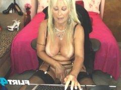 Amateur Blonde Milf Masturbates and Anal