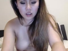 Cute Asian Pleads for Orgasm with Vibrator, Contractions @ 3:45