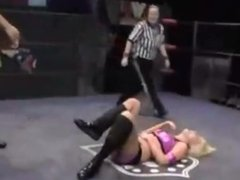 Neck Breaking Piledriver and Powerbomb on Women Intergender Wrestling-Part4