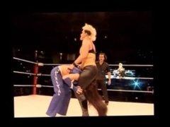 Neck Breaking Piledriver and Powerbomb on Women Intergender Wrestling-Part5