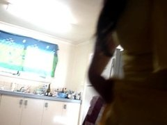 duk dancing in sexy yellow dress and peeing