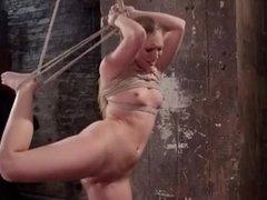 Teen hard squirting Orgasm in BDSM Bondage