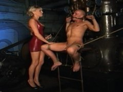 Male and Female Slave Submit to Mistress