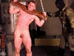 Captured Military Officer - Handsome Straight Russian guy with tiny dick