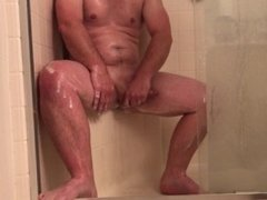 Spying girl catches guy jerking off in shower, lets her keep watching him