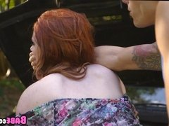 Redhead likes it in both Holes