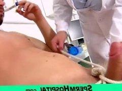 Milf-boy handjob feat. big tits lady doctor Greta