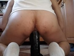 Big dildo in my ass 37 cm 6cm