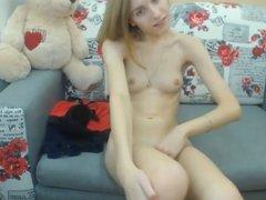 Skinny girl show pussy