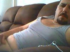 Turkish daddy stroking on cauch