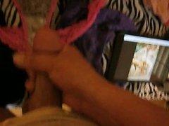 Teen Bedroom Panties Stroke Pt 2. CUM!