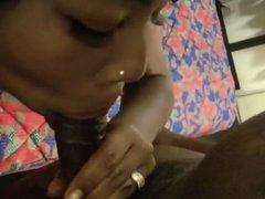 Black Girl Suckin her Man's Dick 7