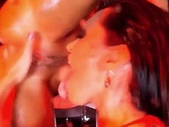 MILKY SPRAY - anal squirting lesbian poledance