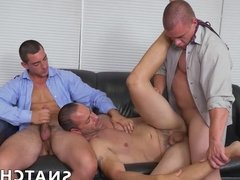 Office guys love bashing butts and sucking those juicy nuts